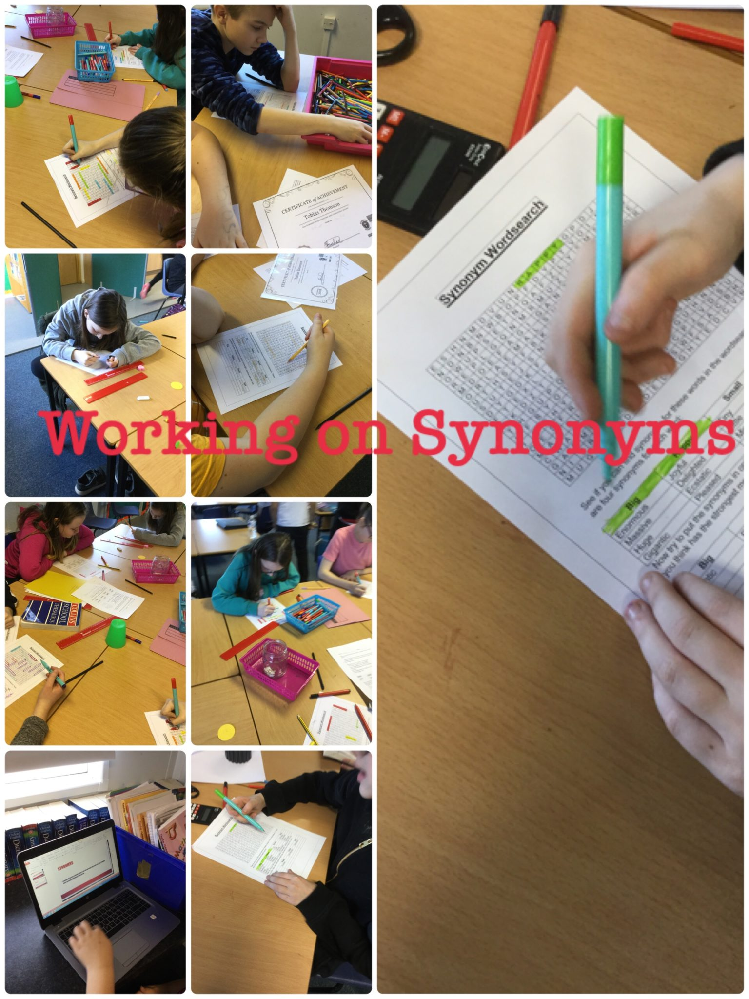 Synonyms - Mr Boulind's Class Blog