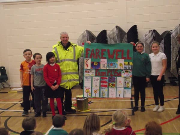 Riverbank Bids an Emotional Farewell to Jim the Lollipop Man!